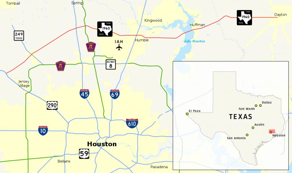 Farm To Market Road 1960 - Wikipedia - Map Of Northwest Houston Texas