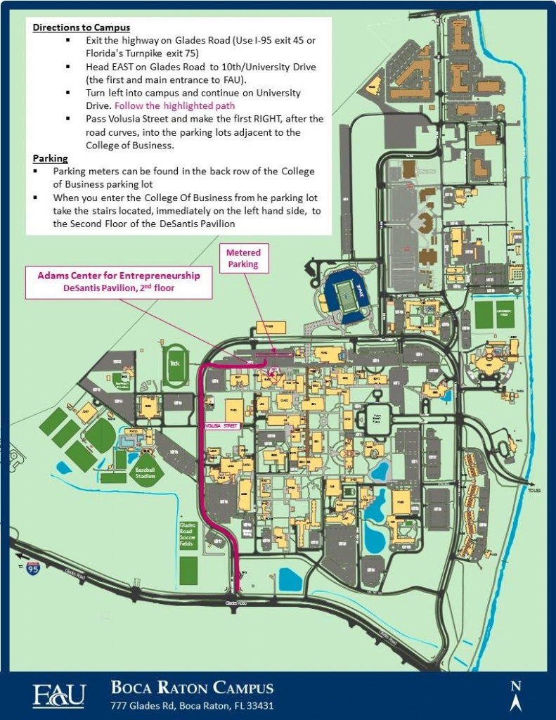 Fau | Directions - Map Of Florida Including Boca Raton