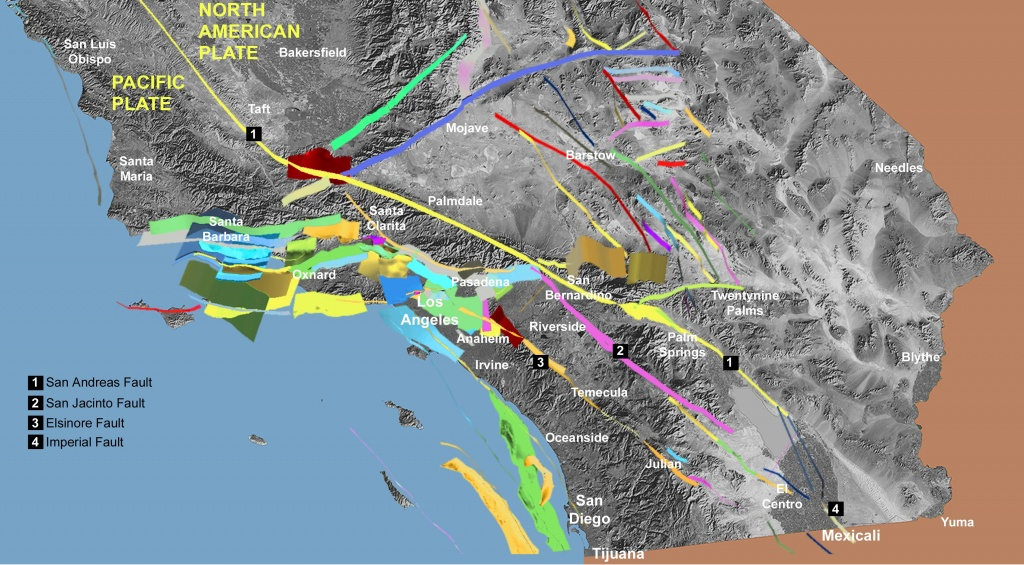 Fault Off San Diego, Orange, Los Angeles Counties Could Produce 7.3 - California Fault Lines Map