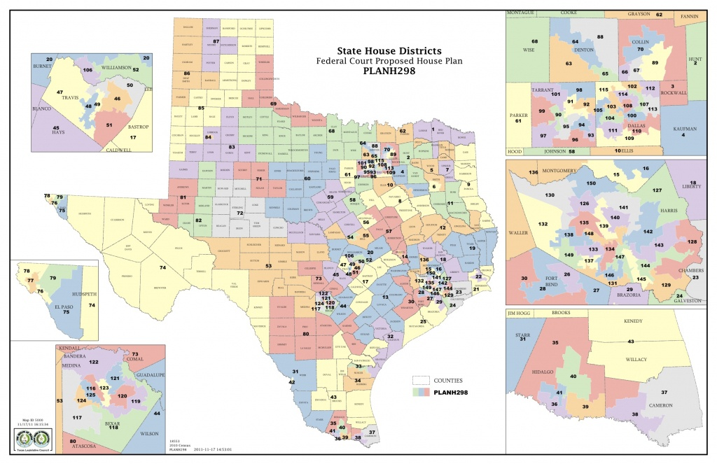 Federal Judges Propose Maps For Texas Legislative Races | The Texas - Texas House District Map