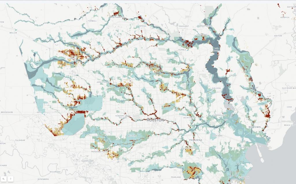 Fema Flood Data Shows Harvey's Broad Reach - Houston Chronicle - Houston Texas Flood Map