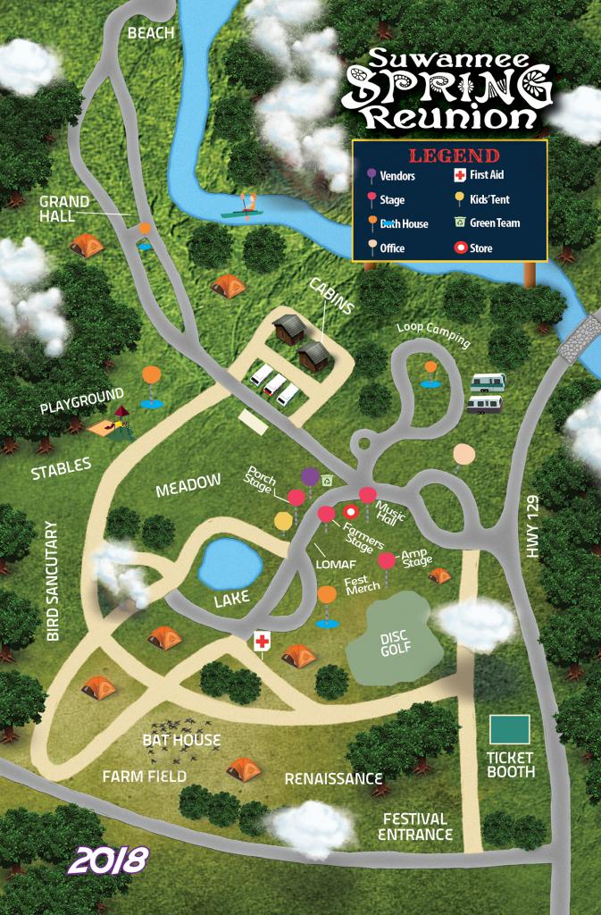 Festival Map   Suwannee Spring Reunion - Reunion Florida Map