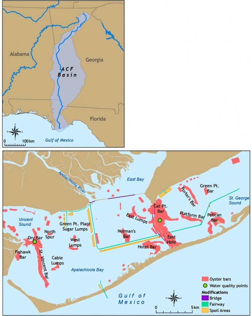 Fig. 1. Map Of Apalachicola Bay, Showing The Location Where The - Where Is Apalachicola Florida On The Map