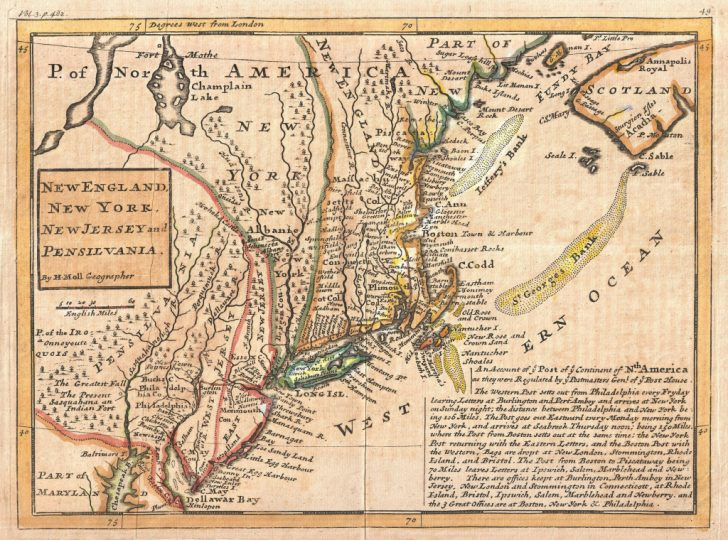 New England Colonies Map Printable