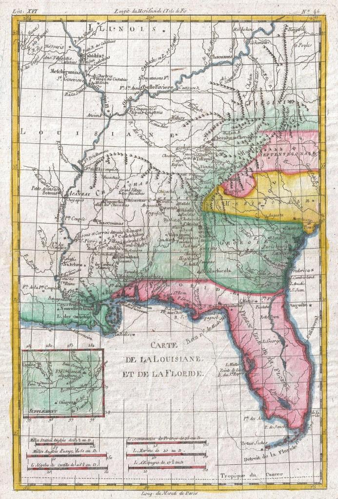 File:1780 Raynal And Bonne Map Of Louisiana, Florida And Carolina - Florida Louisiana Map