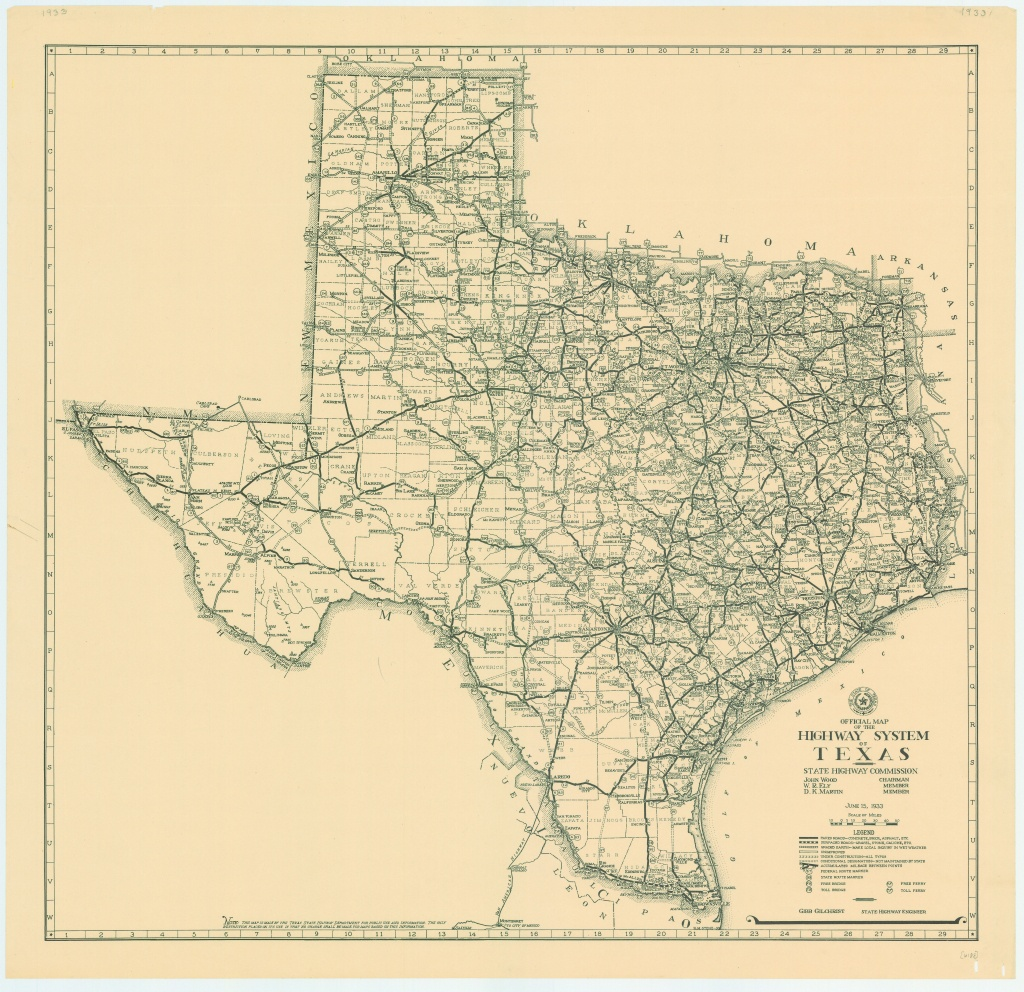 File:1933 Texas State Highway Map - Wikimedia Commons - Free Texas Highway Map