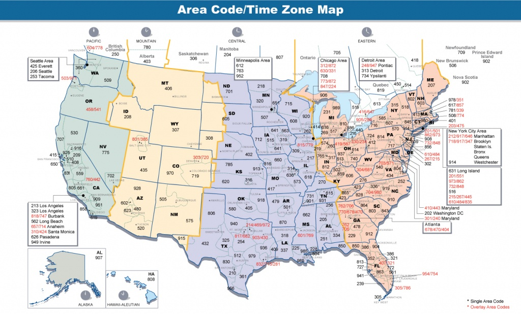 File:area Codes & Time Zones Us - Wikimedia Commons - Printable Usa Time Zone Map