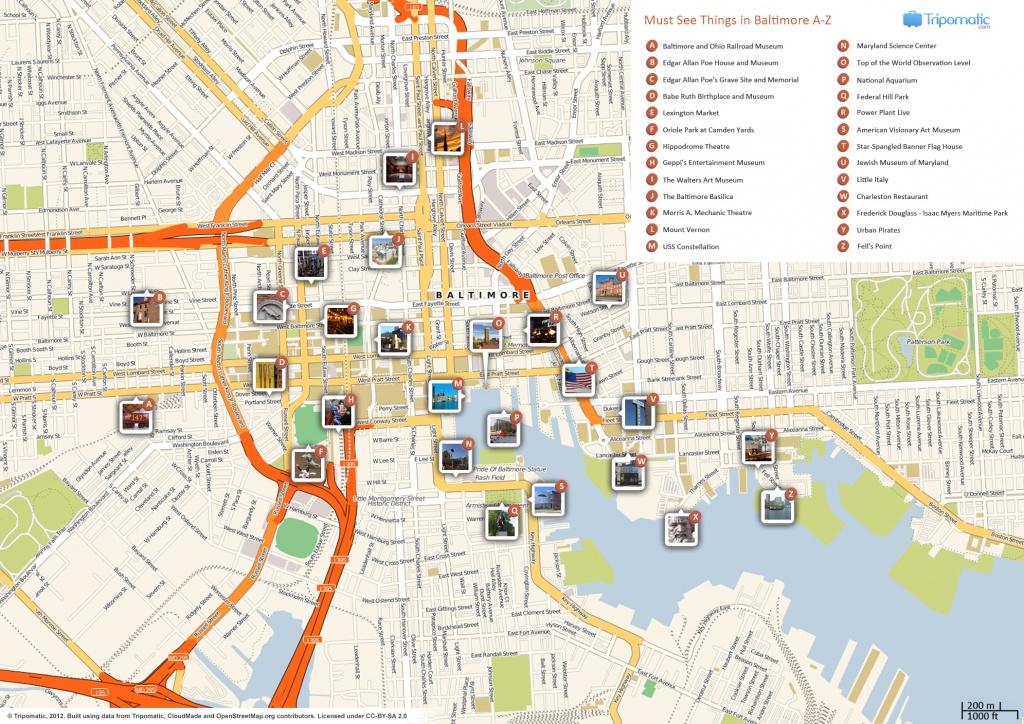 File:baltimore Printable Tourist Attractions Map - Wikimedia Commons - Printable Map Of Baltimore