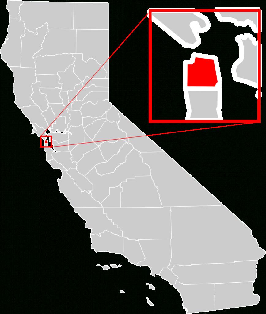 File:california County Map (San Francisco County Enlarged).svg - A Map Of San Francisco California