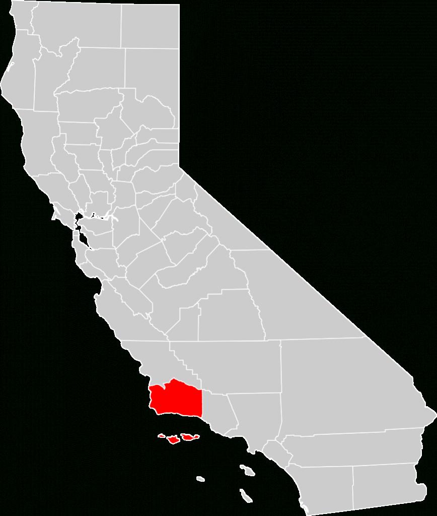 File:california County Map (Santa Barbara County Highlighted).svg - Map Of California Showing Santa Barbara