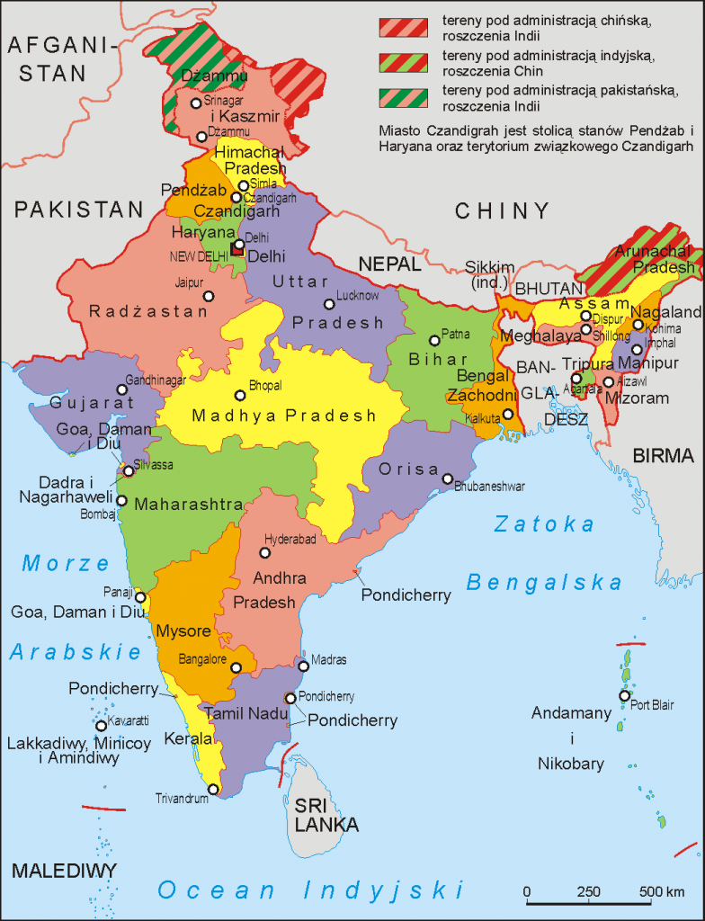File:india Administrative Map 1972 Pl - Wikimedia Commons - India Map Printable Free