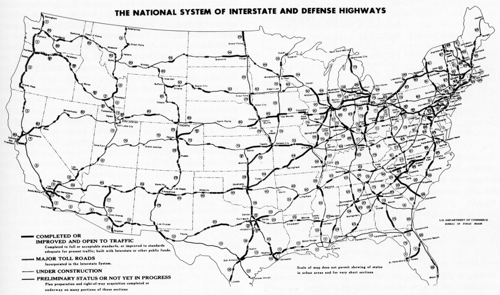 File:interstate Highway Status Unknown Date - Wikimedia Commons - Printable Us Map With Interstate Highways