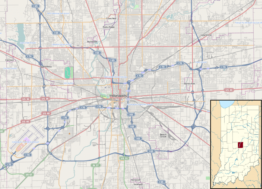 File:location Map Indianapolis - Wikipedia - Downtown Indianapolis Map Printable