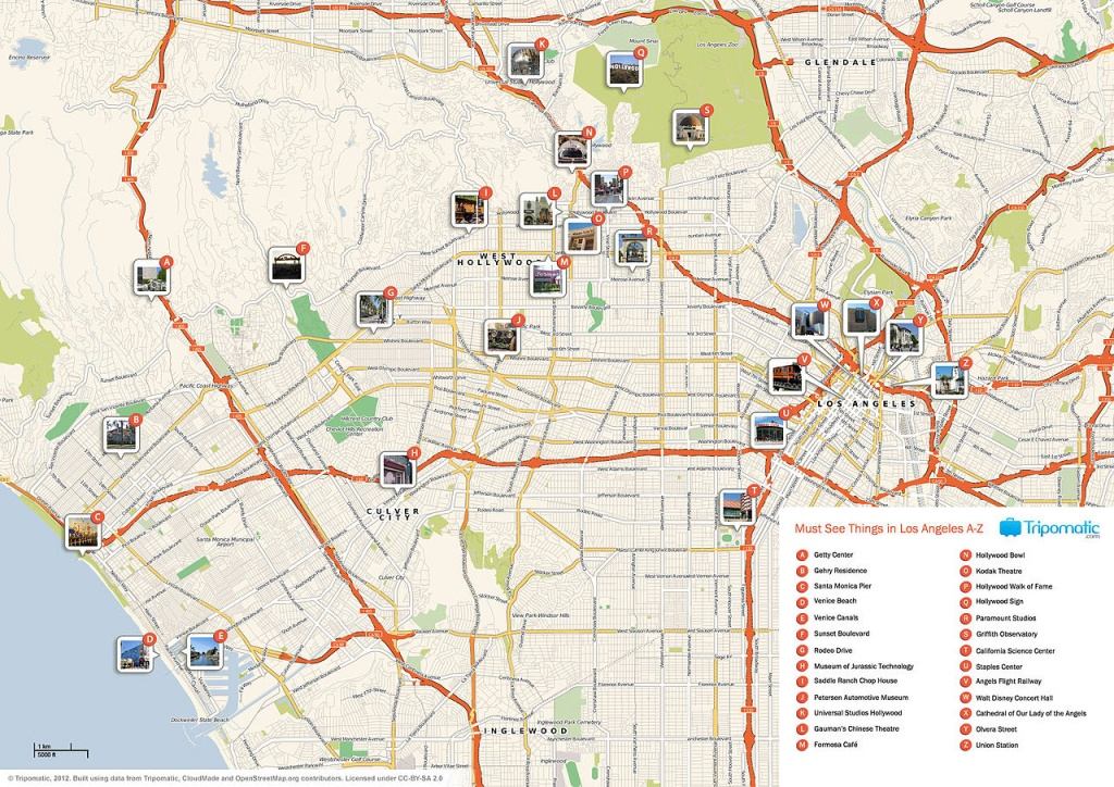File:los Angeles Printable Tourist Attractions Map - Wikimedia - Map Of Los Angeles California Attractions