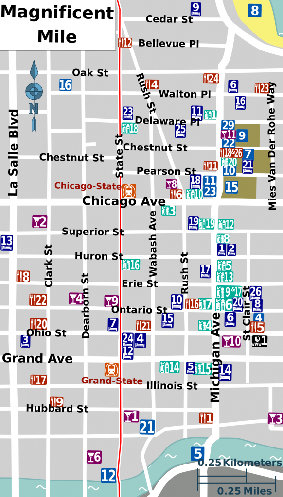 File:mag Mile Map - Wikimedia Commons - Magnificent Mile Map Printable