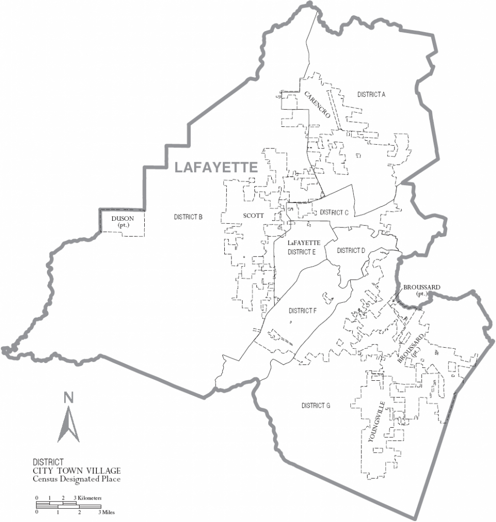 File:map Of Lafayette Parish Louisiana With Municipal And District - Printable Map Of Lafayette La