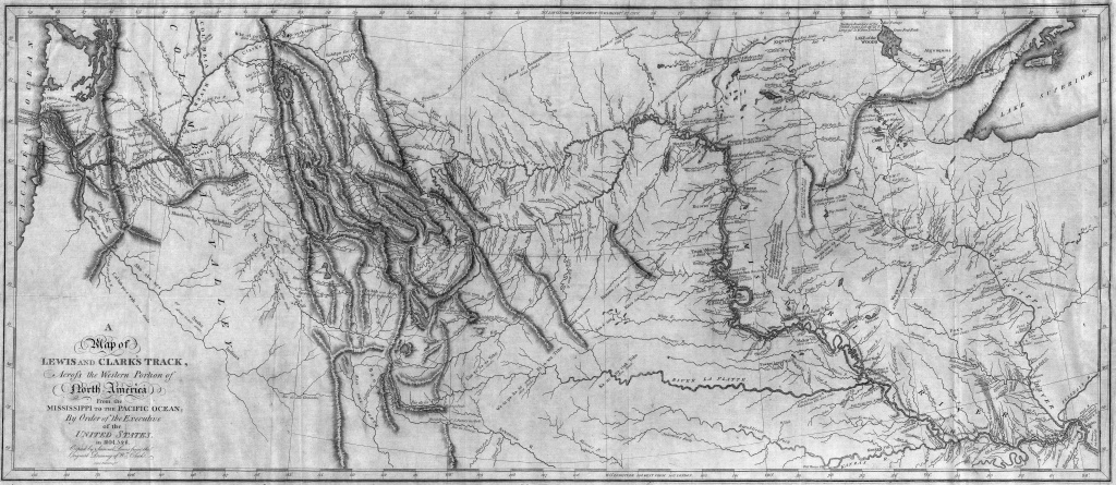 File:map Of Lewis And Clark's Track, Across The Western Portion Of - Lewis And Clark Printable Map
