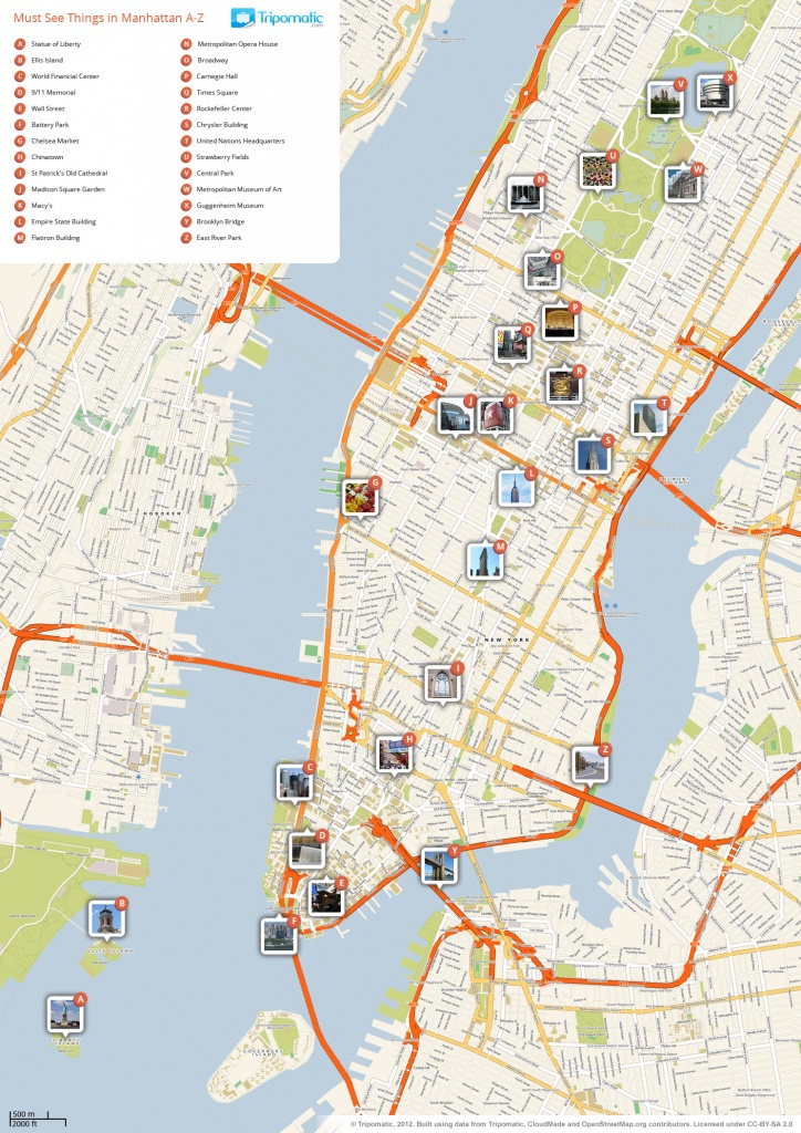 File:new York Manhattan Printable Tourist Attractions Map - Printable Map Of Times Square