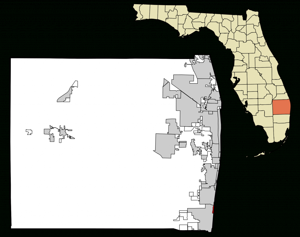 File:palm Beach County Florida Incorporated And Unincorporated Areas - Highland Beach Florida Map