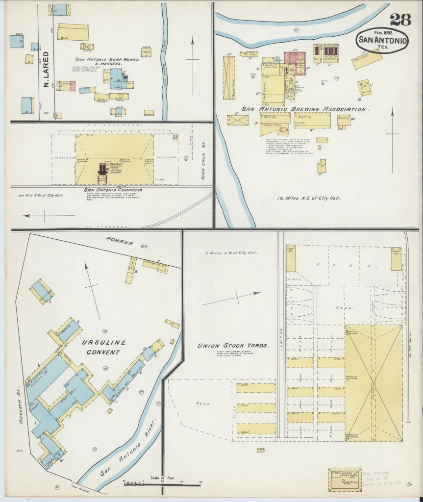 File:sanborn Fire Insurance Map From San Antonio, Bexar County - Map Insurance Texas