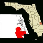File:st. Lucie County Florida Incorporated And Unincorporated Areas   Florida Map With Port St Lucie