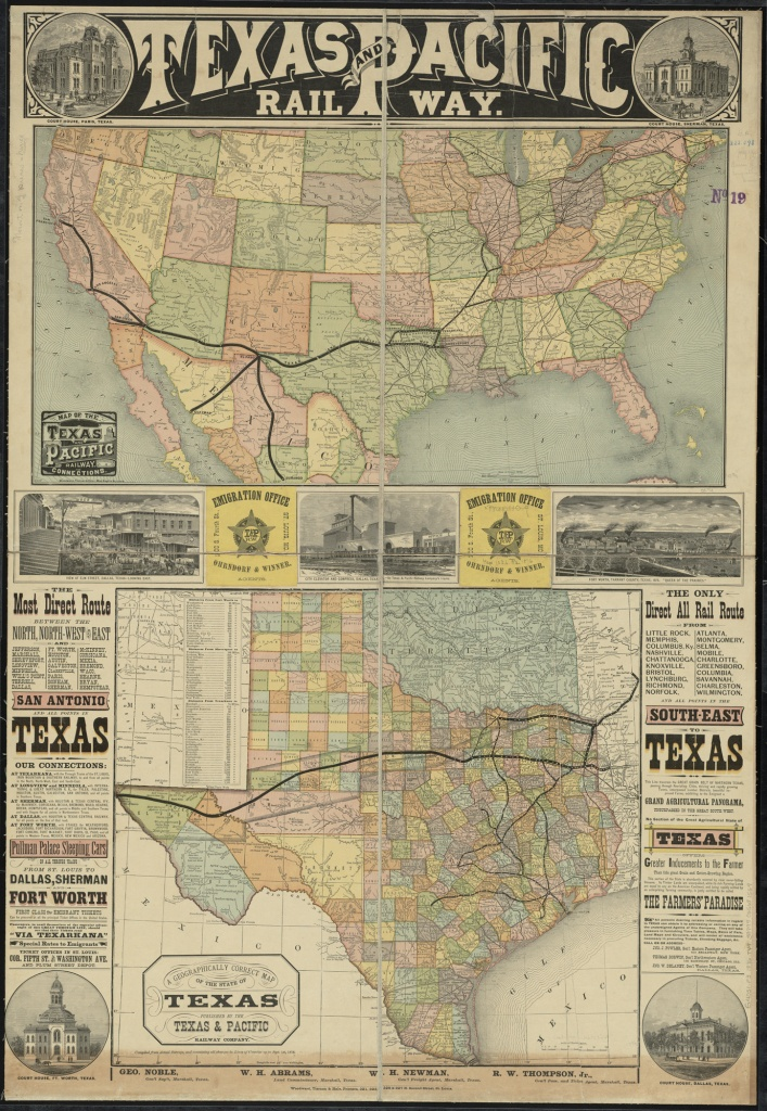 File:texas And Pacific Rail Way; Map Of The Texas And Pacific - Selma Texas Map