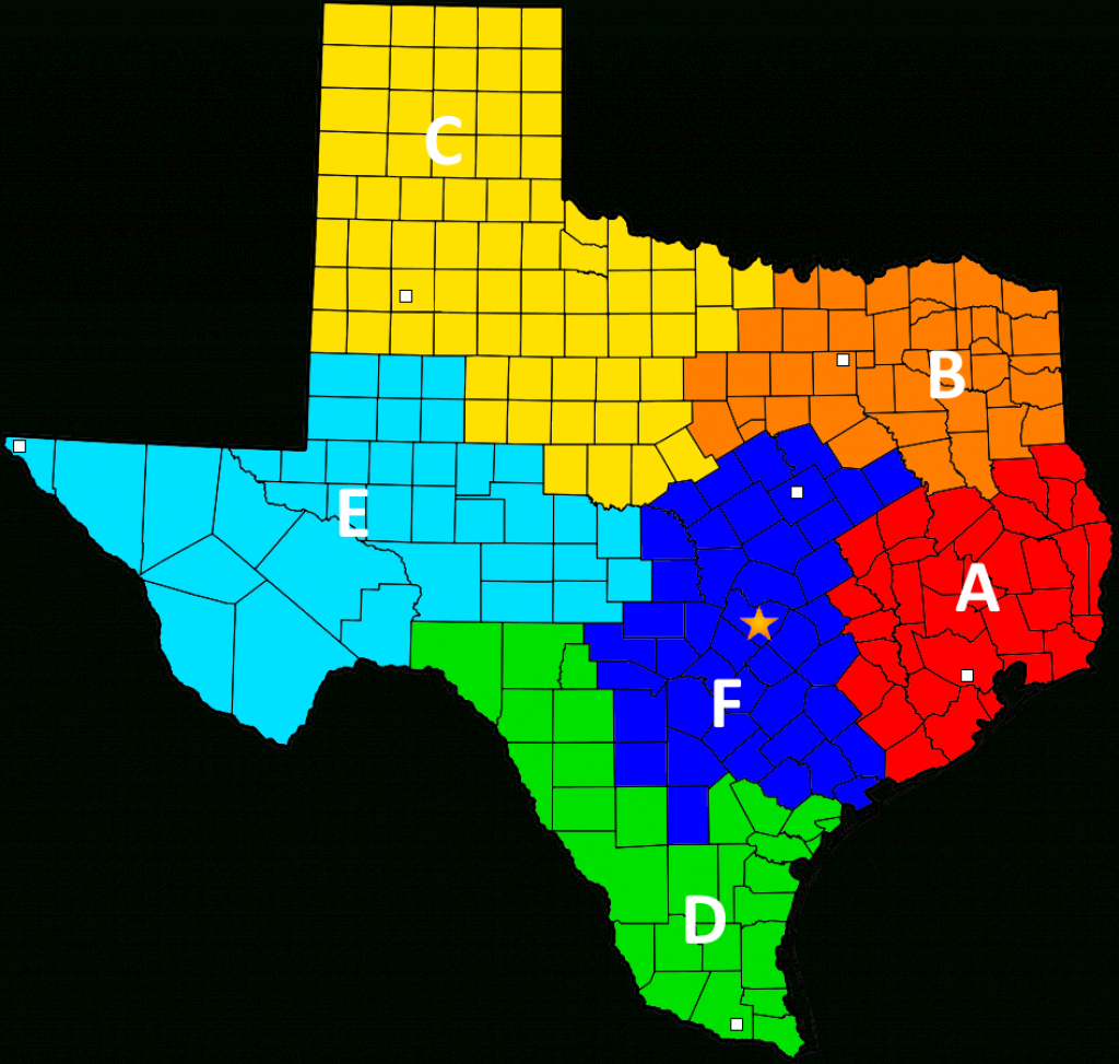 File:texas Ranger Division Companies Map - Wikipedia - Texas Rangers Map