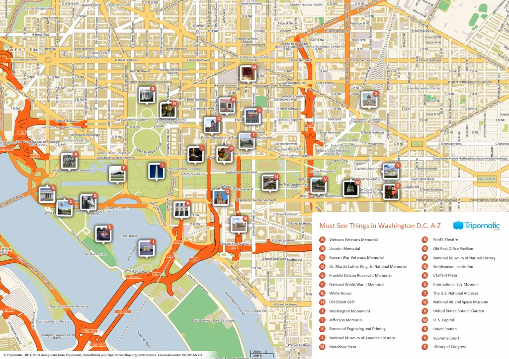 File:washington Dc Printable Tourist Attractions Map - Wikimedia - Tourist Map Of Dc Printable