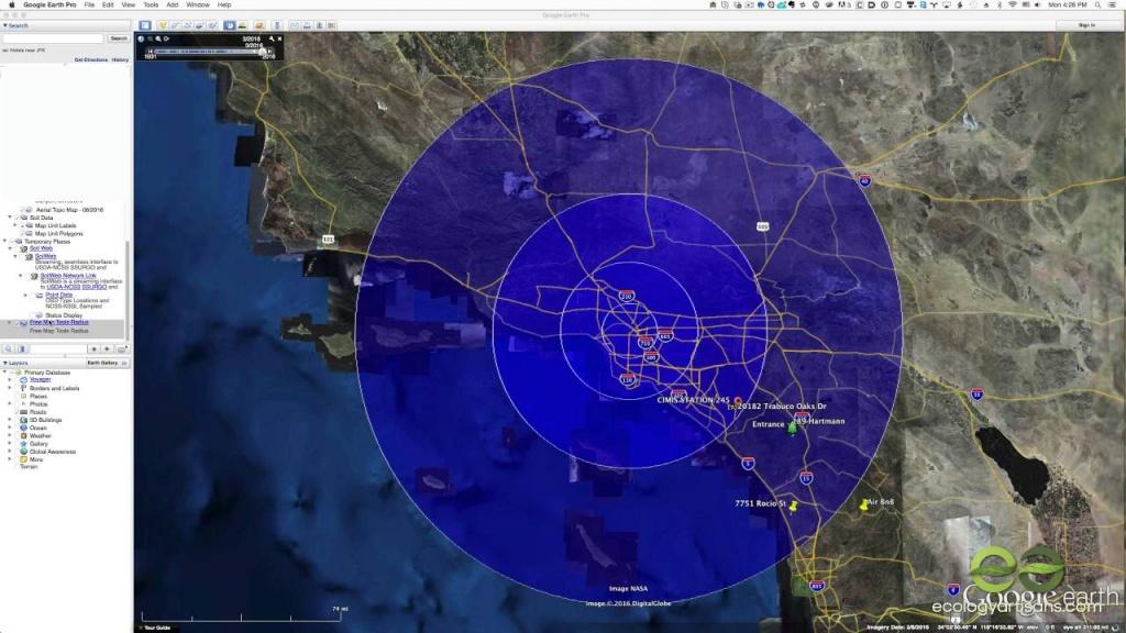 Find A Radius Around A Point On Google Maps - Printable Radius Map