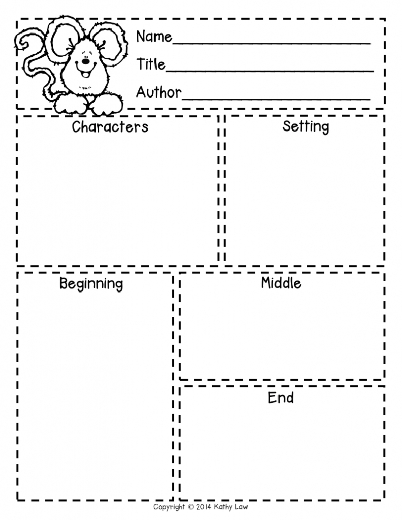First Grade A La Carte: Story Elements Freebie   Reading In - Printable Story Map For First Grade