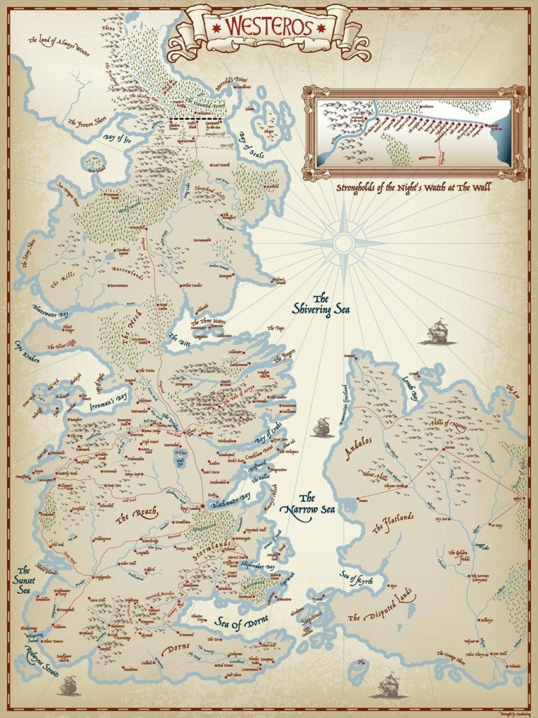 Firstly, This Very Clean, And Simple Map. In 2019 | Cause I'm A Nerd - Printable Map Of Westeros