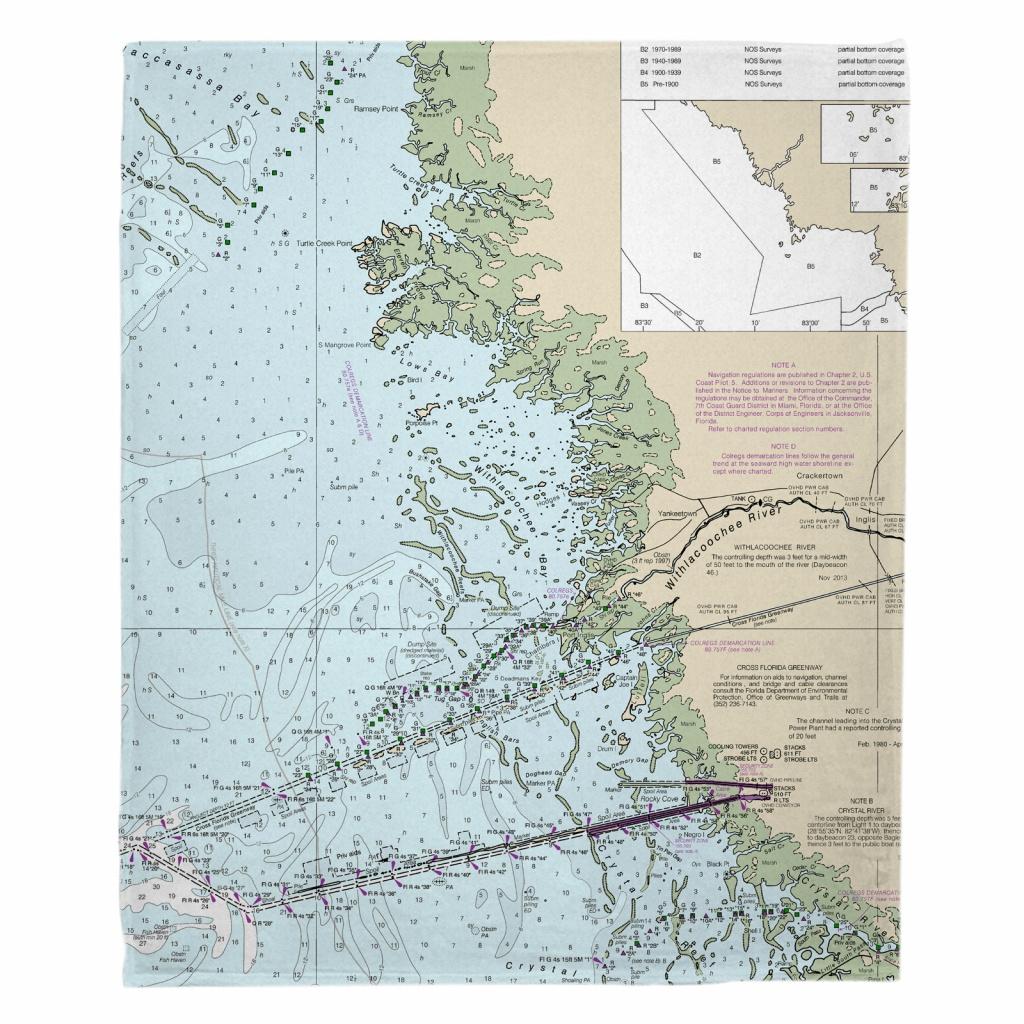 Fl: Yankeetown, Fl Nautical Chart Blanket - Nautical Maps Florida