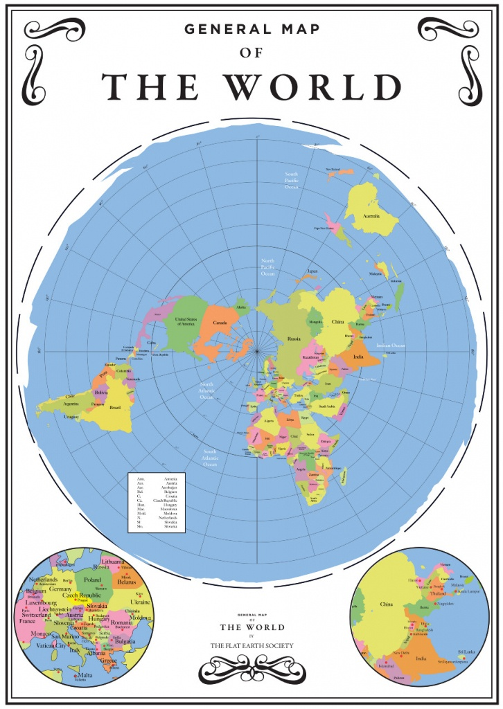Flat Map Of The World Printable | Download Them And Print - Flat Map Of World Printable