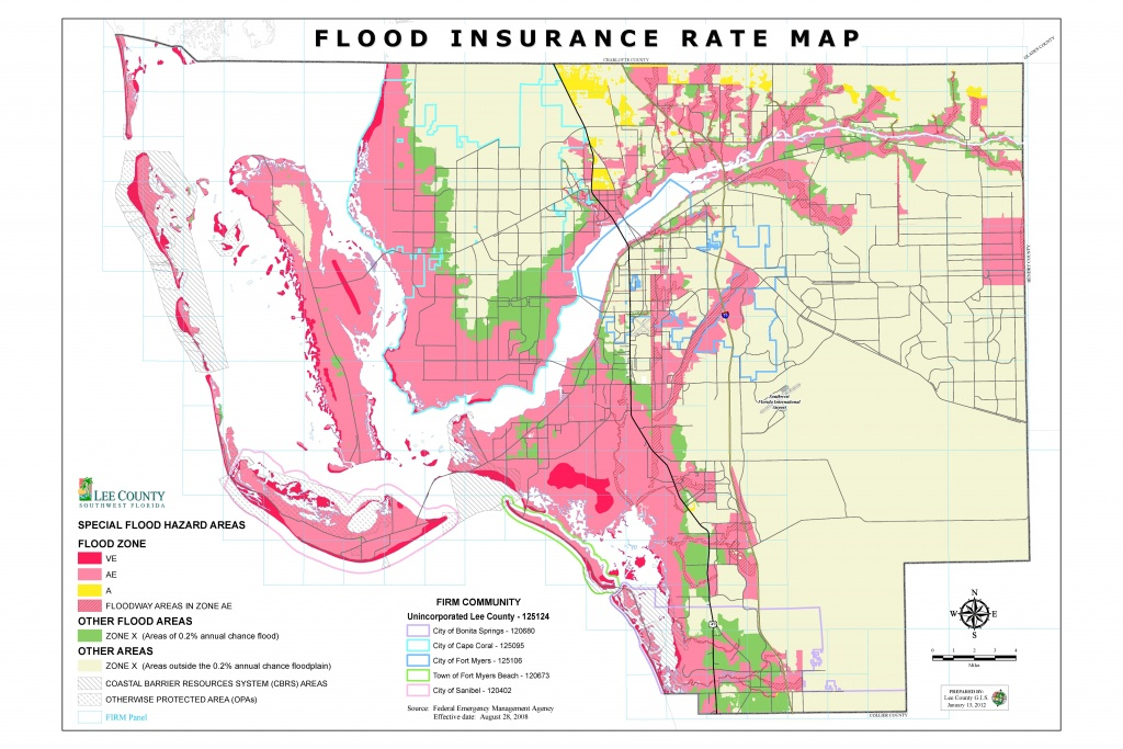 Flood Insurance Rate Maps - Cape Coral Florida Flood Zone Map