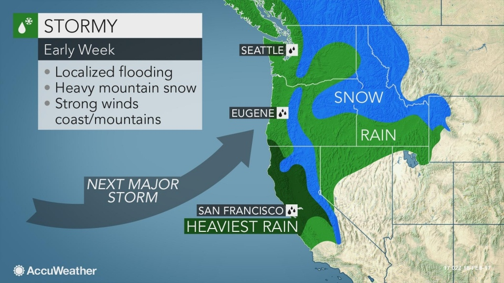 Flooding, Feet Of Snow And High Winds To Threaten Northern With - California Coast Weather Map