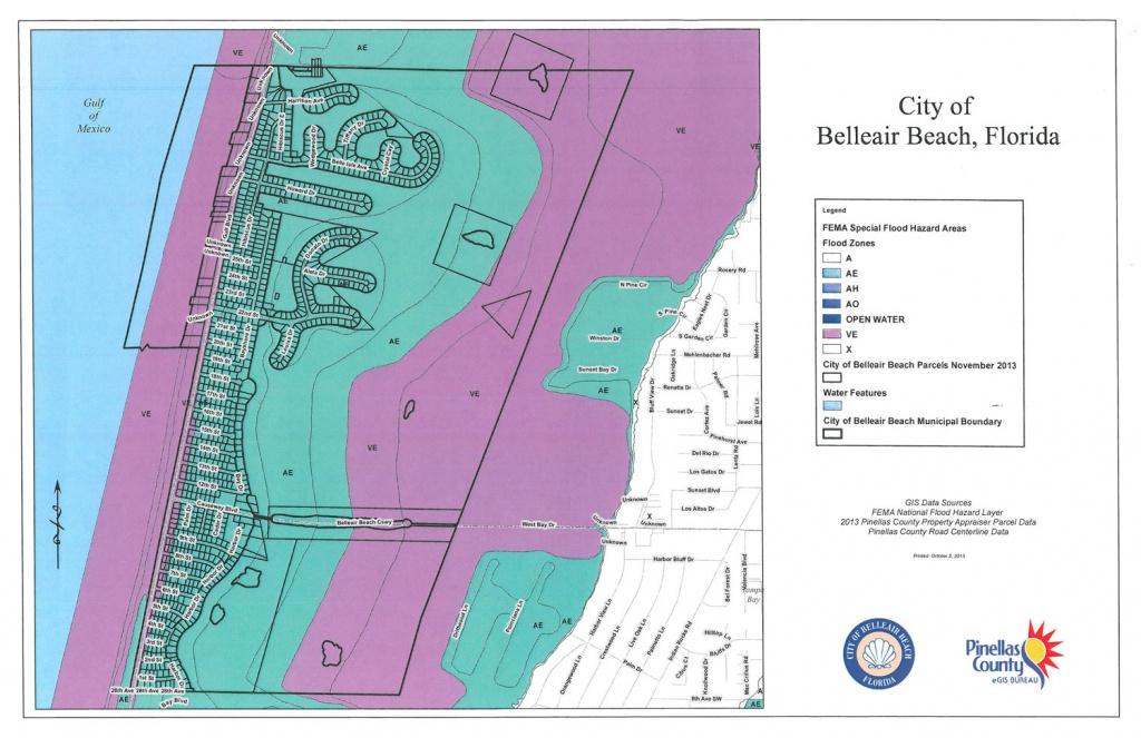 Floodplain Management & Crs | City Of Belleair Beach - Belleair Beach Florida Map