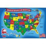 Floor Puzzle Us Map   Lci440 | Melissa & Doug   California Map Puzzle