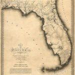 Florida 1823 Historic Decorative Wall Map   16X20 | Ebay   Historic Florida Maps