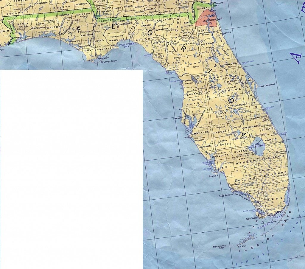 Florida Base Map - Free Printable Map Of Florida