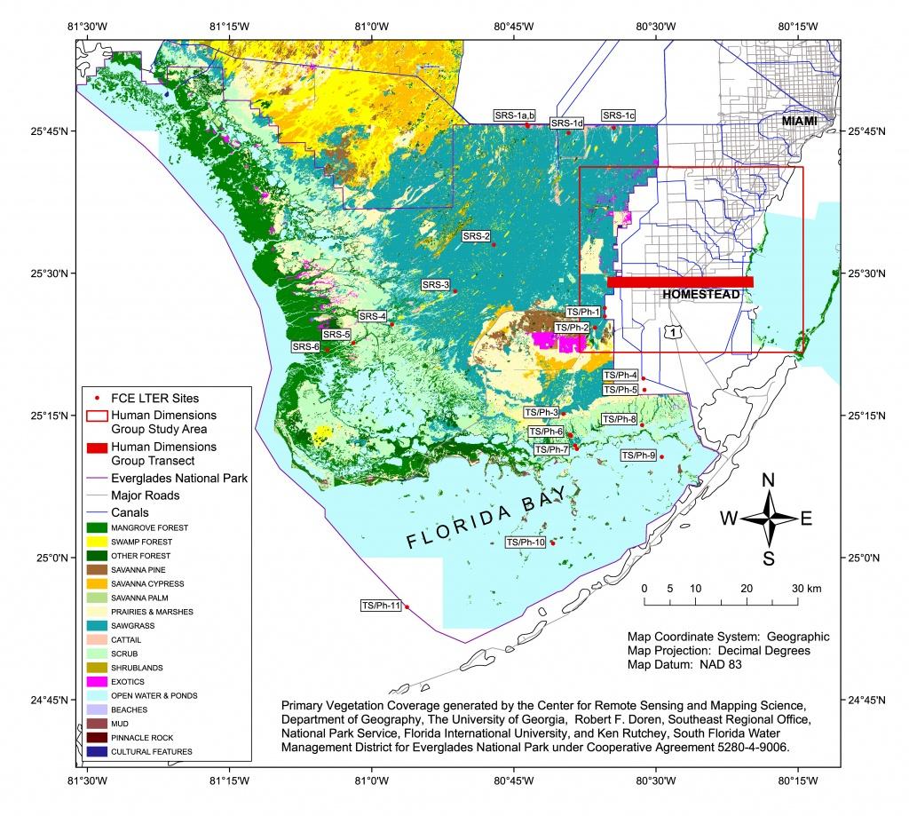 Florida Coastal Everglades Lter - Gis Data And Maps - Map Of Florida Showing The Everglades