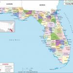 Florida County Map, Florida Counties, Counties In Florida   Where Is Pensacola Florida On A Map
