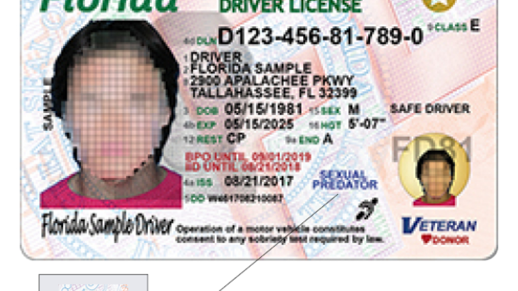 Florida Driver Licenses To Get New Design - Map Of Sexual Predators In Florida