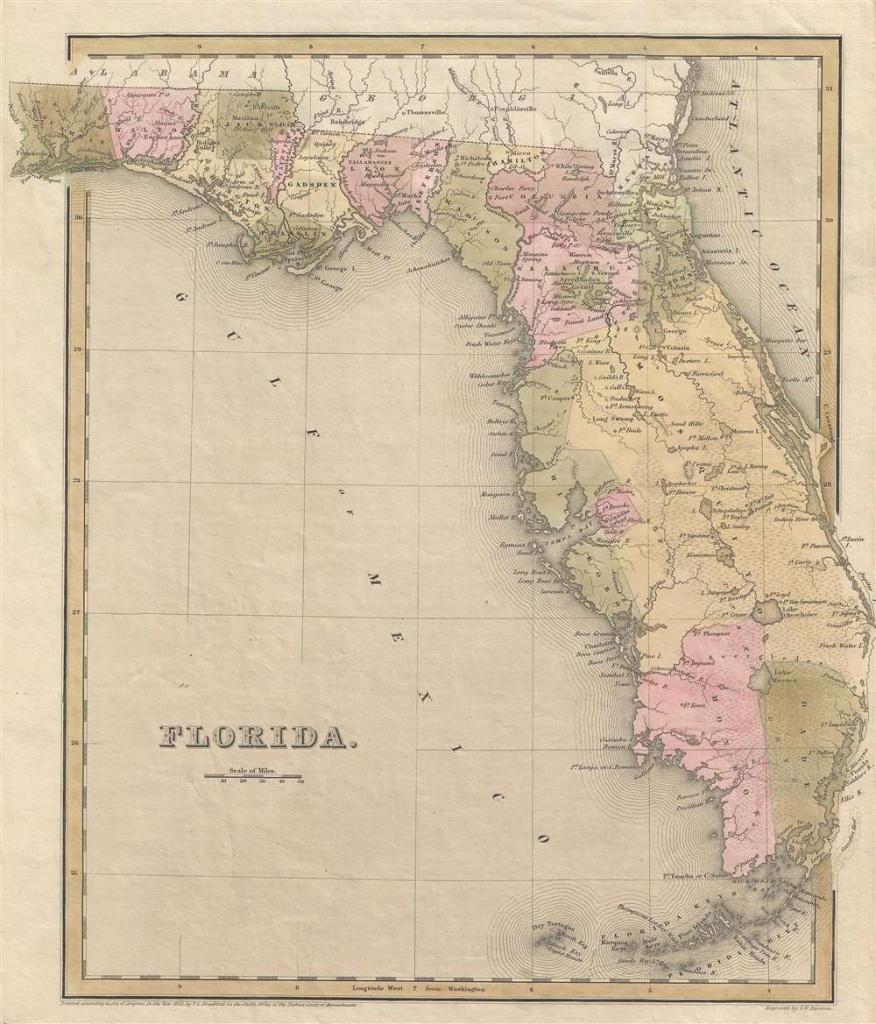 Florida.: Geographicus Rare Antique Maps - Antique Florida Maps For Sale
