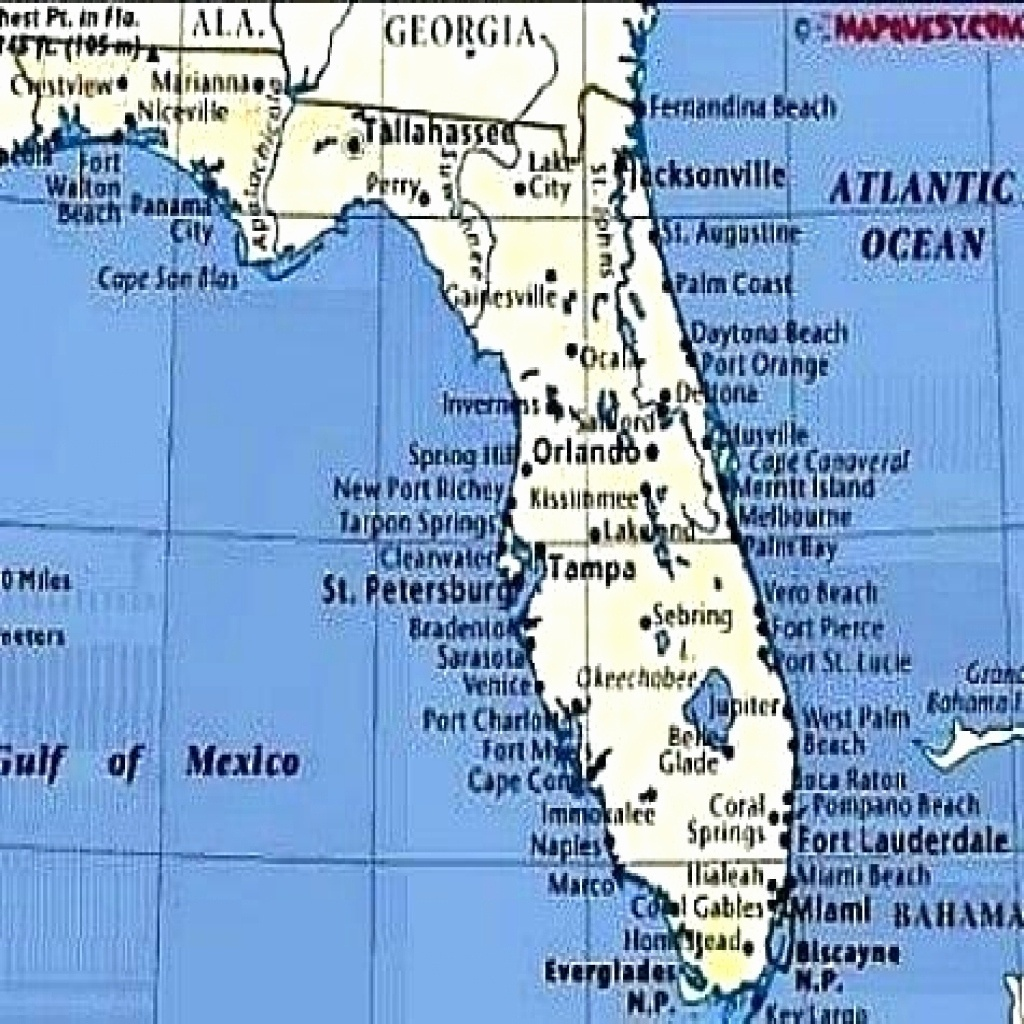 Map Of Florida West Coast Beaches | Printable Maps