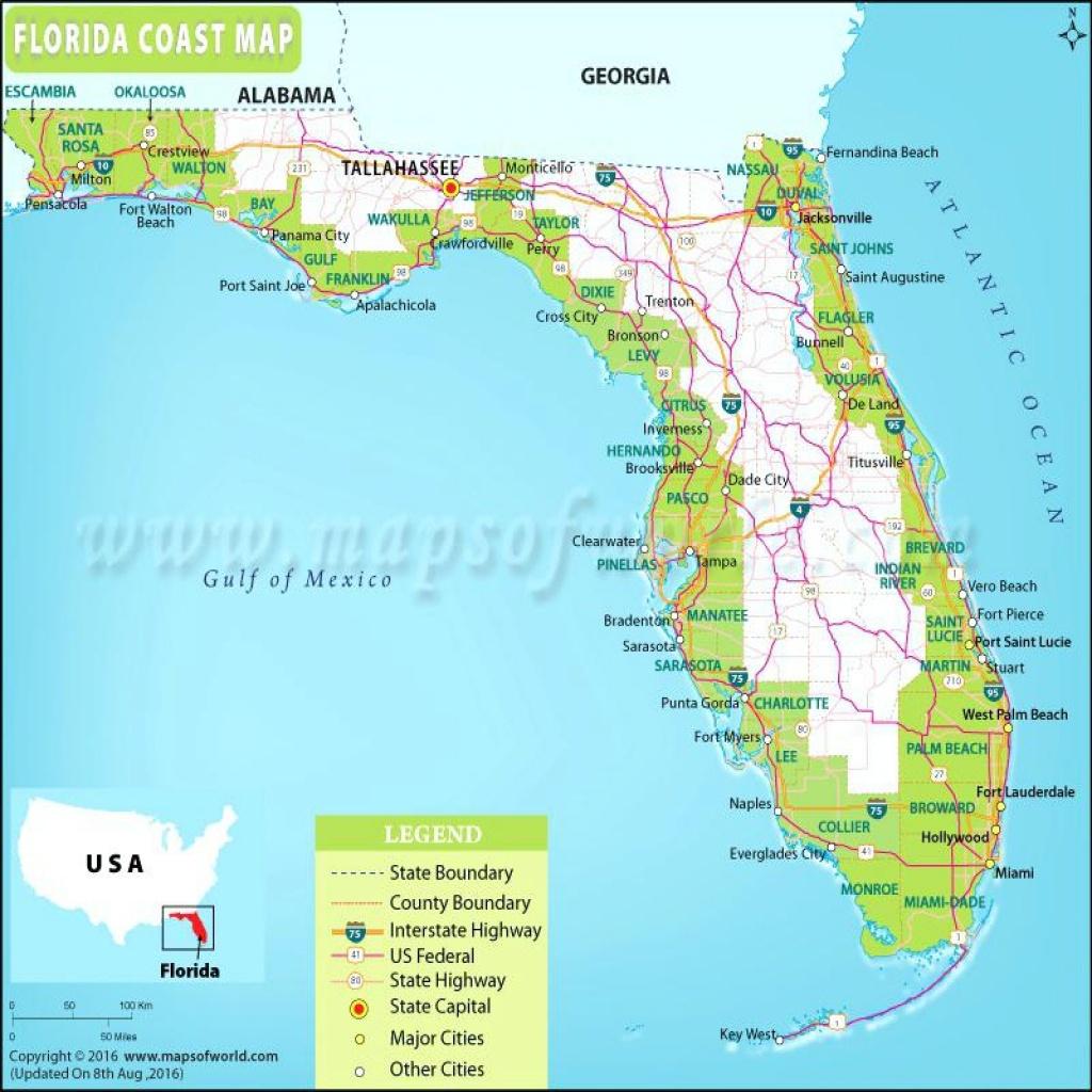 Florida Gulf Coast Beaches Map | M88M88 - Map Of Florida Beaches Gulf Side