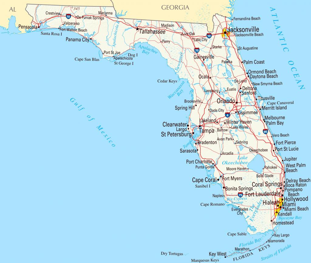 Gulf Coast Map Of Florida