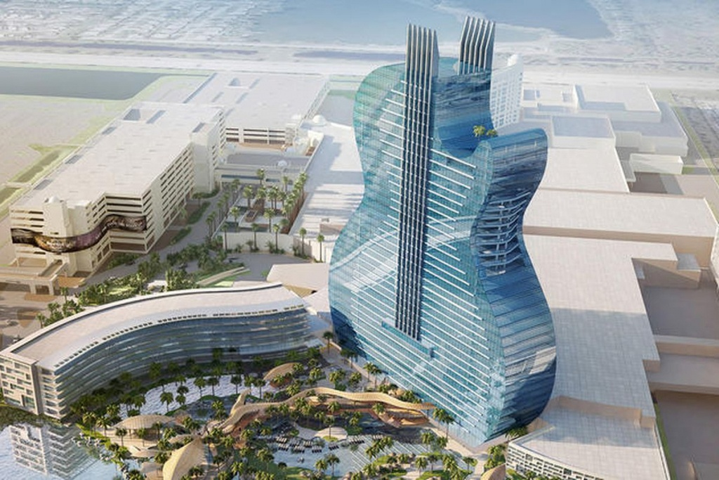 Florida Hard Rock Hotel Will Be Shaped Like A Real Guitar - Curbed - Map Of Hotels In Hollywood Florida
