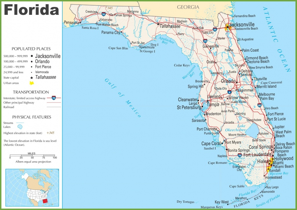 Florida Highway Map - Map Of All Springs In Florida