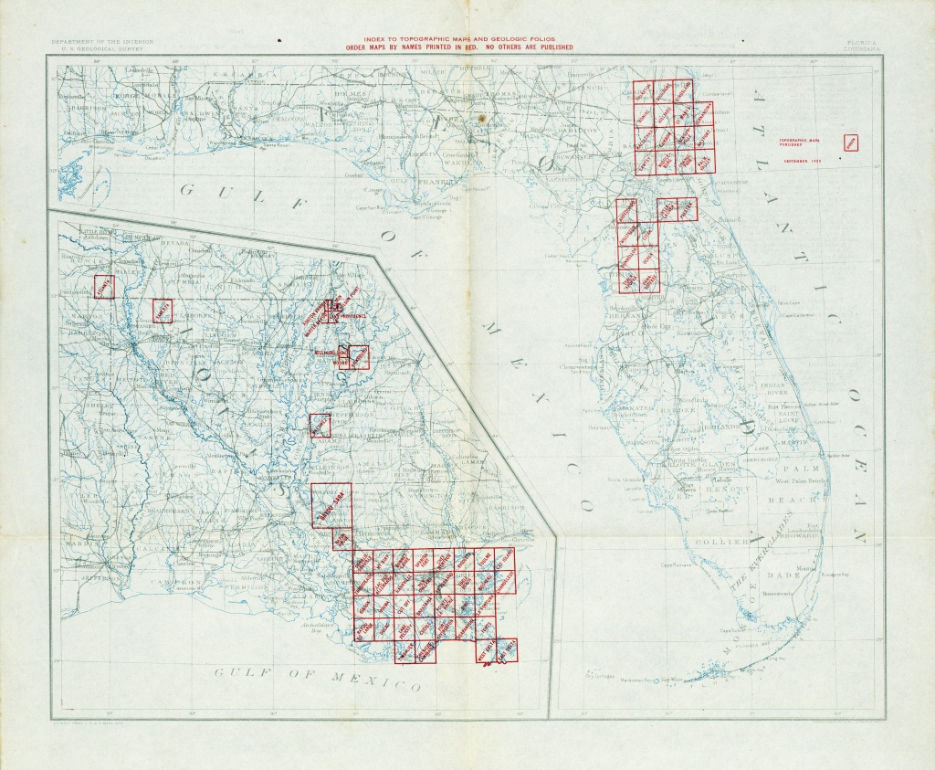 Florida Historical Topographic Maps - Perry-Castañeda Map Collection - Topographic Map Of South Florida