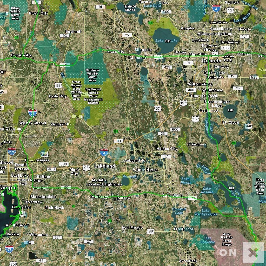 Florida Hunt Zone B Wildlife - Florida Public Hunting Map